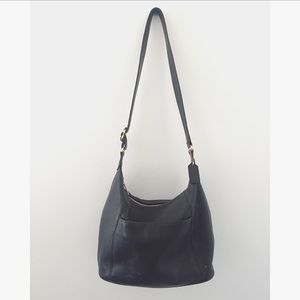 Vintage Coach Black Leather Sonoma Bucket Bag